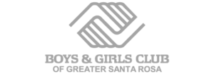 greyscale logo for the boys and girls club of greater santa rosa