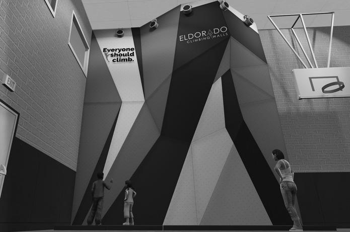 digital mockup of climbing wall coming to boys and girls club in santa rosa