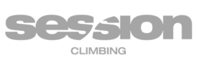 session climbing gym logo in grey