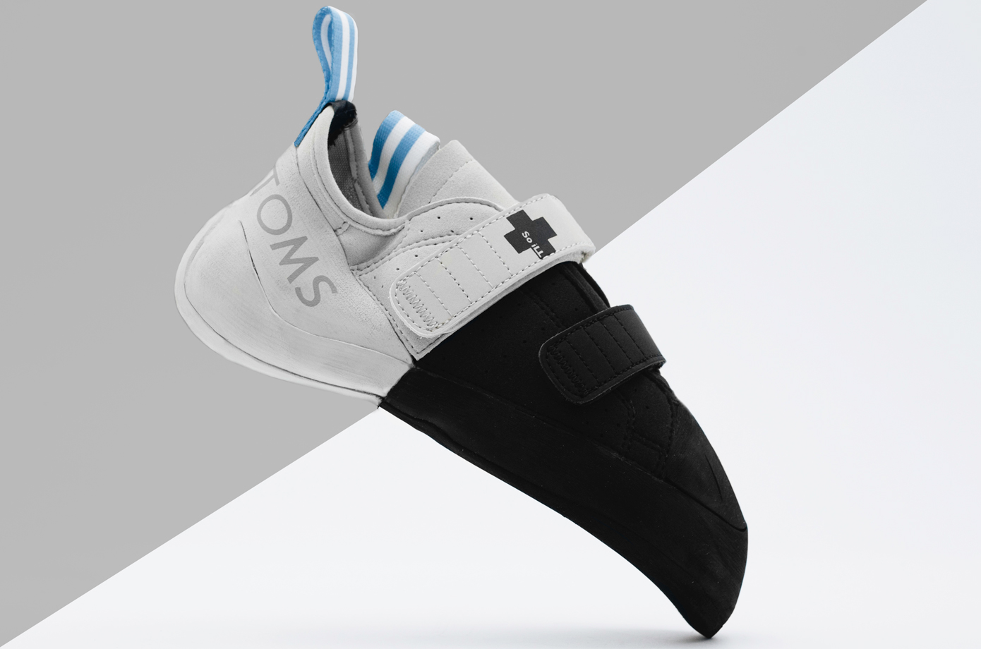 So iLL x TOMS Men's The Street Climbing Shoe with Dark Matter Rubber. Part of 1Climb's Indiegogo Campaign.