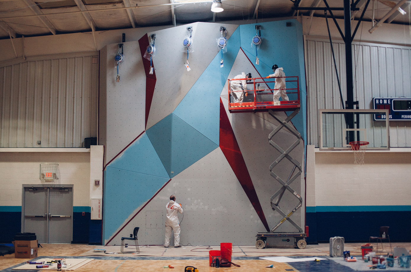 STL Boys and Girls Club has a new wall constructed.