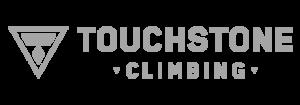 touchstone climbing grey logo