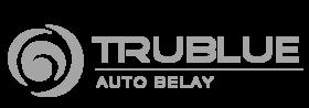 trublue auto belay grey logo