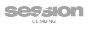 session climbing gym logo in gray