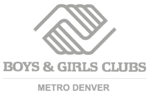 greyscale logo for the boys and girls club of metro denver