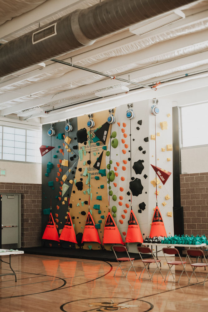 The 1Climb Denver wall just before its grand opening